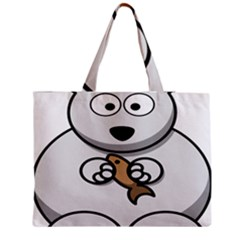 Bear Polar Bear Arctic Fish Mammal Medium Tote Bag
