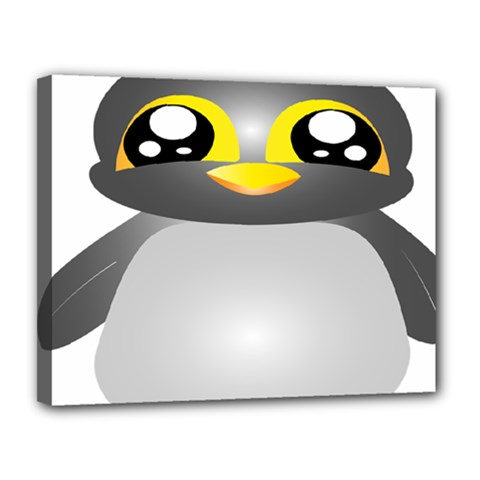 Cute Penguin Animal Canvas 14  X 11