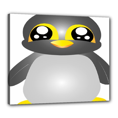 Cute Penguin Animal Canvas 24  X 20
