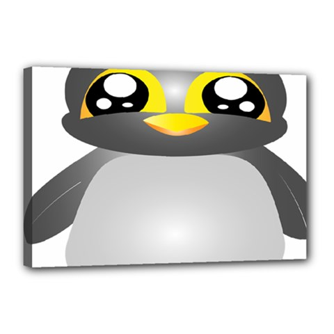 Cute Penguin Animal Canvas 18  X 12