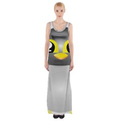 Cute Penguin Animal Maxi Thigh Split Dress