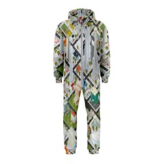Simple Map Of The City Hooded Jumpsuit (kids)