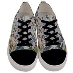 Simple Map Of The City Men s Low Top Canvas Sneakers