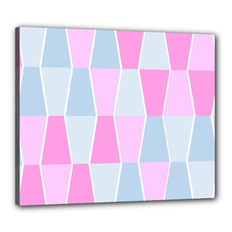 Geometric Pattern Design Pastels Canvas 24  X 20  by Nexatart