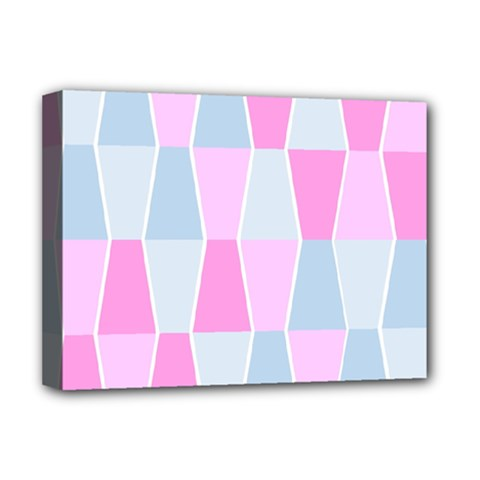 Geometric Pattern Design Pastels Deluxe Canvas 16  X 12