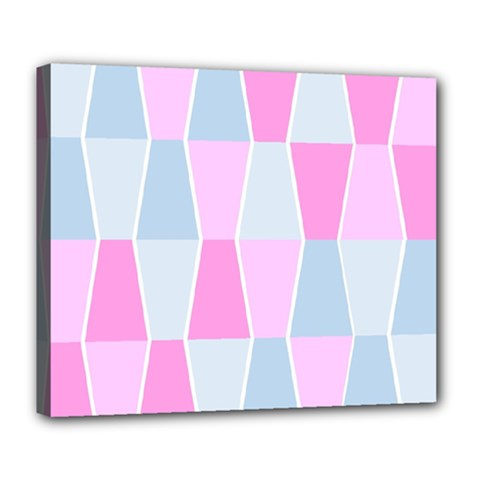 Geometric Pattern Design Pastels Deluxe Canvas 24  X 20