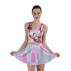 Geometric Pattern Design Pastels Mini Skirt