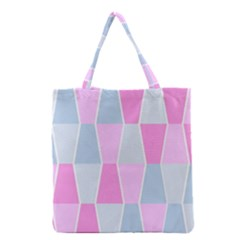 Geometric Pattern Design Pastels Grocery Tote Bag