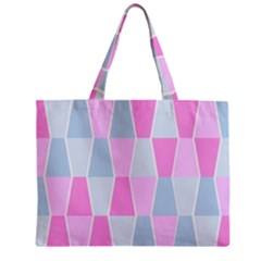 Geometric Pattern Design Pastels Zipper Mini Tote Bag
