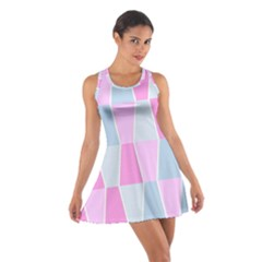 Geometric Pattern Design Pastels Cotton Racerback Dress