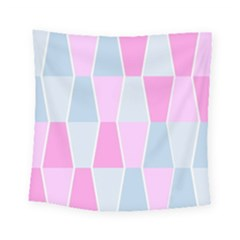 Geometric Pattern Design Pastels Square Tapestry (small)