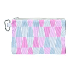 Geometric Pattern Design Pastels Canvas Cosmetic Bag (large) by Nexatart