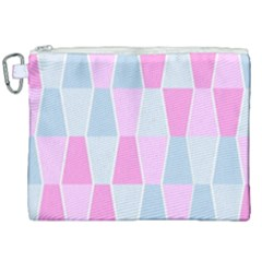 Geometric Pattern Design Pastels Canvas Cosmetic Bag (xxl)