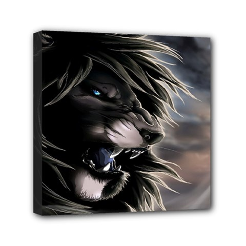 Angry Lion Digital Art Hd Canvas Travel Bag