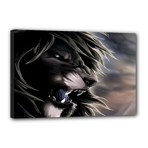Angry Lion Digital Art Hd Canvas 18  X 12