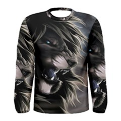 Angry Lion Digital Art Hd Men s Long Sleeve Tee