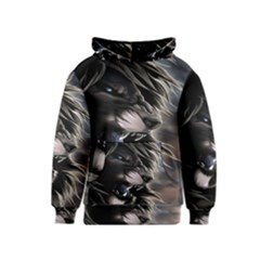 Angry Lion Digital Art Hd Kids  Pullover Hoodie