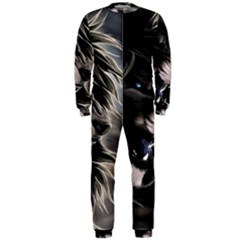 Angry Lion Digital Art Hd Onepiece Jumpsuit (men)