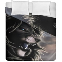 Angry Lion Digital Art Hd Duvet Cover Double Side (california King Size)