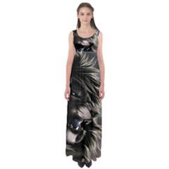 Angry Lion Digital Art Hd Empire Waist Maxi Dress