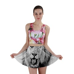 Lion Wildlife Art And Illustration Pencil Mini Skirt