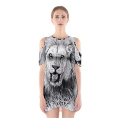 Lion Wildlife Art And Illustration Pencil Shoulder Cutout One Piece