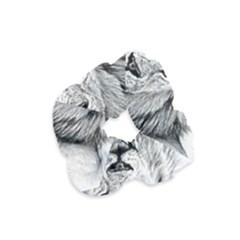 Lion Wildlife Art And Illustration Pencil Velvet Scrunchie