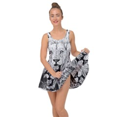 Lion Wildlife Art And Illustration Pencil Inside Out Dress