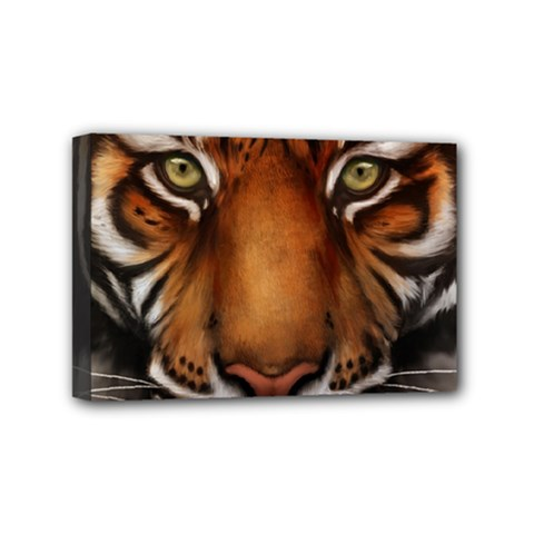 The Tiger Face Mini Canvas 6  X 4