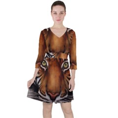 The Tiger Face Ruffle Dress
