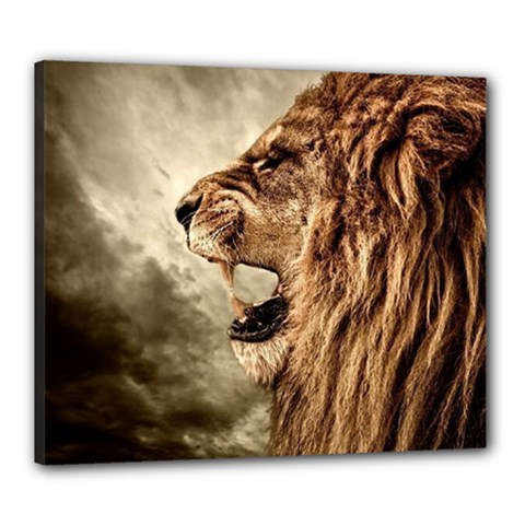 Roaring Lion Canvas 24  X 20