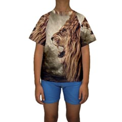 Roaring Lion Kids  Short Sleeve Swimwear