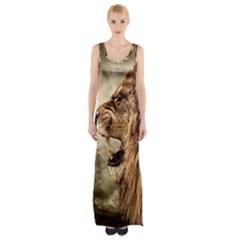 Roaring Lion Maxi Thigh Split Dress
