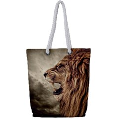 Roaring Lion Full Print Rope Handle Tote (small) by Nexatart