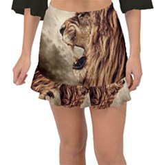 Roaring Lion Fishtail Mini Chiffon Skirt