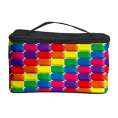 Rainbow 3d Cubes Red Orange Cosmetic Storage Case
