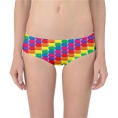 Rainbow 3d Cubes Red Orange Classic Bikini Bottoms