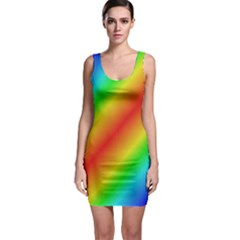 Background Diagonal Refraction Bodycon Dress