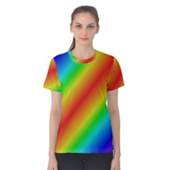Background Diagonal Refraction Women s Cotton Tee