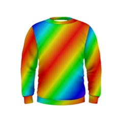 Background Diagonal Refraction Kids  Sweatshirt