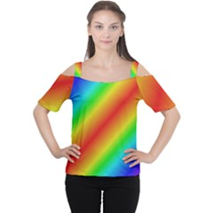 Background Diagonal Refraction Cutout Shoulder Tee