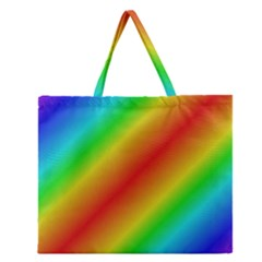 Background Diagonal Refraction Zipper Large Tote Bag