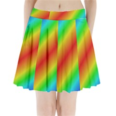 Background Diagonal Refraction Pleated Mini Skirt