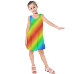 Background Diagonal Refraction Kids  Sleeveless Dress