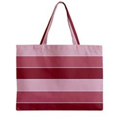 Striped Shapes Wide Stripes Horizontal Geometric Zipper Mini Tote Bag