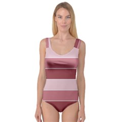 Striped Shapes Wide Stripes Horizontal Geometric Princess Tank Leotard  by Nexatart