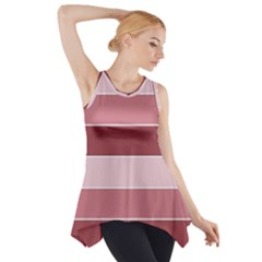 Striped Shapes Wide Stripes Horizontal Geometric Side Drop Tank Tunic