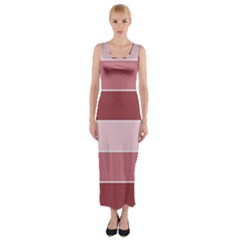 Striped Shapes Wide Stripes Horizontal Geometric Fitted Maxi Dress