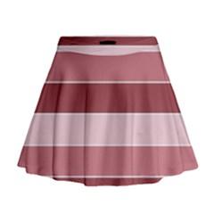 Striped Shapes Wide Stripes Horizontal Geometric Mini Flare Skirt