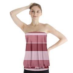 Striped Shapes Wide Stripes Horizontal Geometric Strapless Top